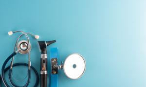 Otoscope with stethoscope